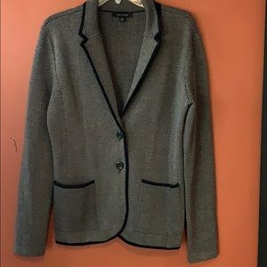 Ann Taylor gray and black blazer size M